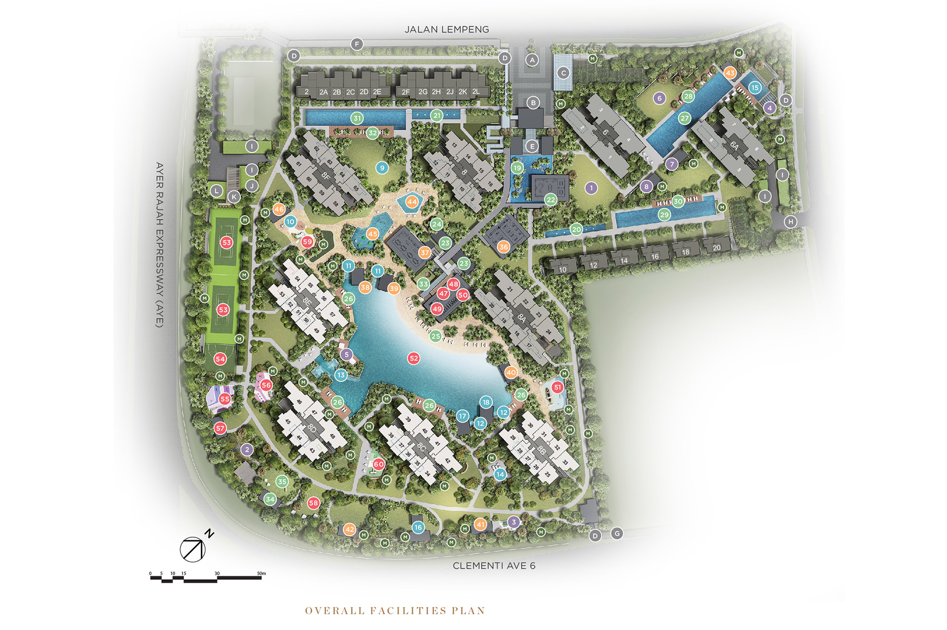 Parc Clematis Site Plan without legend